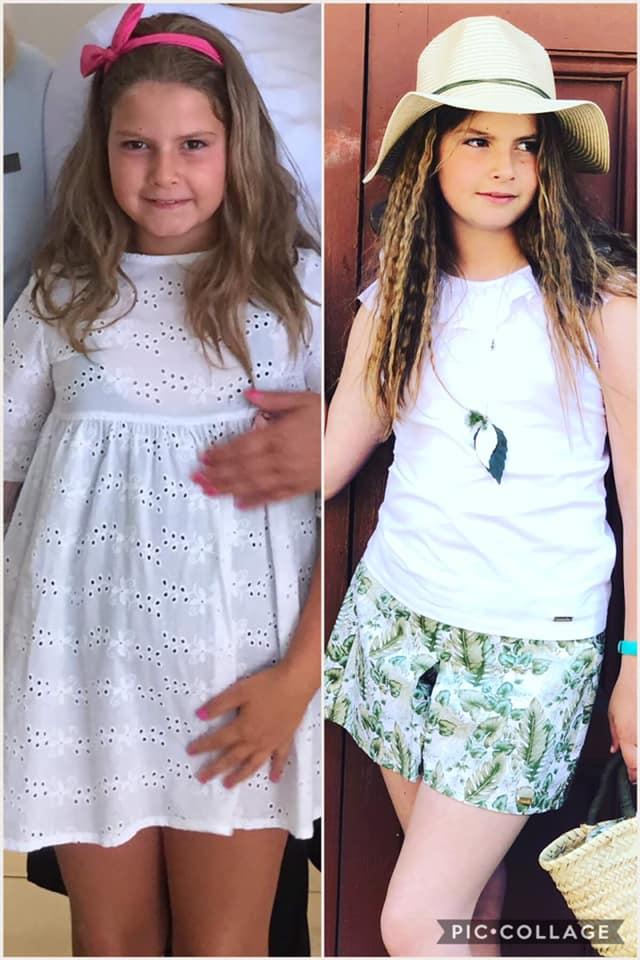 Paula antes y despues de la dieta.